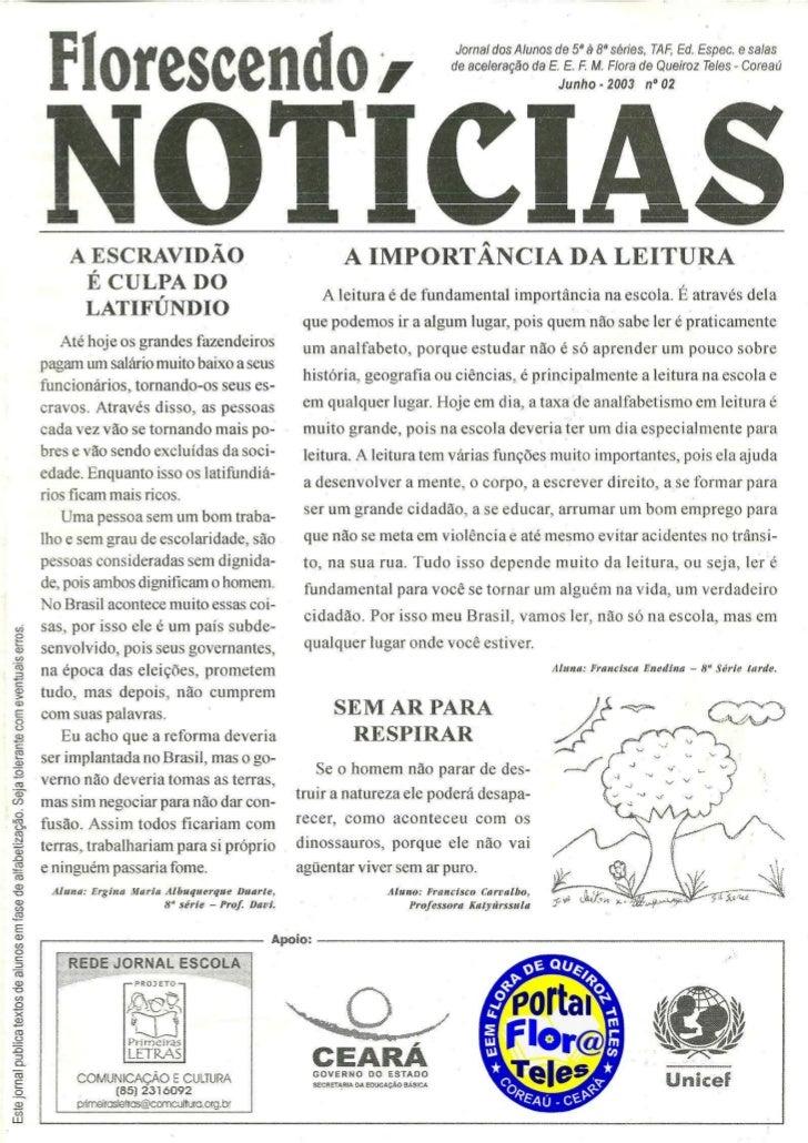 Jornal florescendo notícias 02