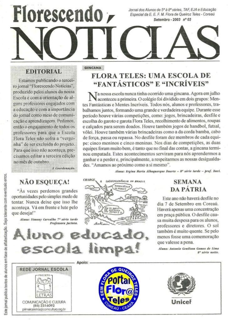 Jornal florescendo notícias 03