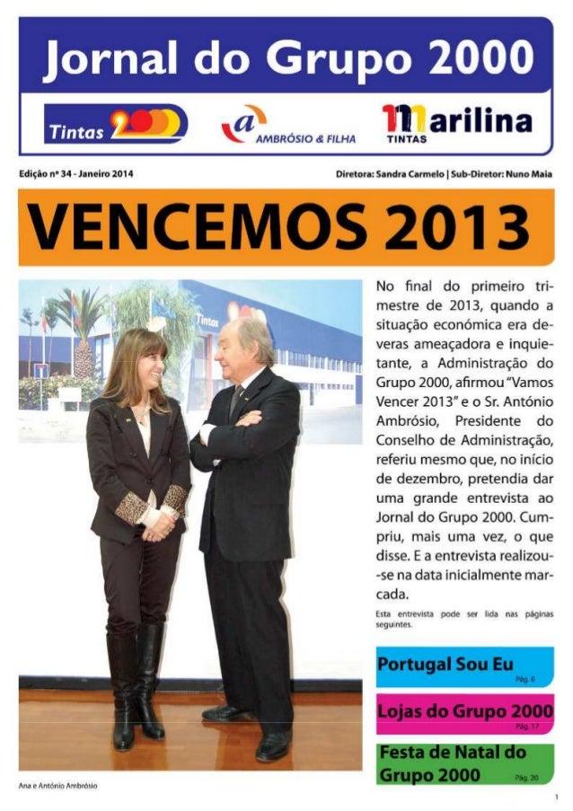 Jornal do Grupo 2000 - Tintas 2000, Tintas Marilina, A&F