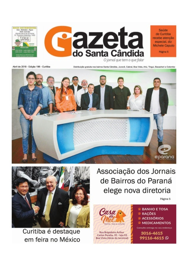 GAZETA DO SANTA CÂNDIDA, ABRIL 2018