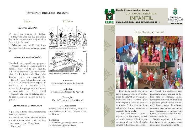 Escola Tenente Avelino Gomes                  COTIDIANO DIDÁTICO - INFANTIL                                           COTI...