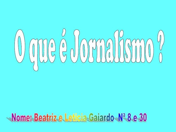 Jornalismo é a atividade profissional que consiste em lidar com notícias, dados factuais e divulgação de informações. Tamb...