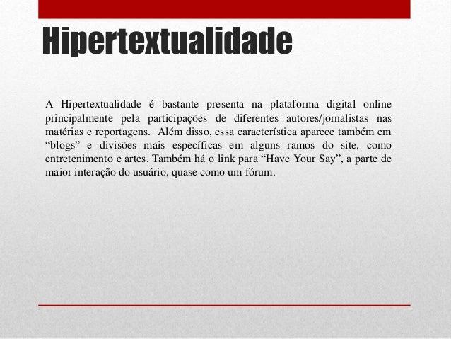 Hipertextualidade no jornalismo online dating 9