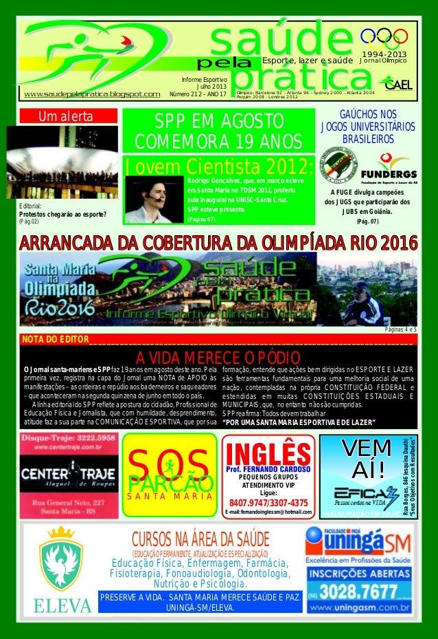 saúde prática saúde prática pela Esporte, lazer e saúde Jornal Olímpico 1994-2013 Olímpico: Barcelona 92 - Atlanta 96 - Sy...