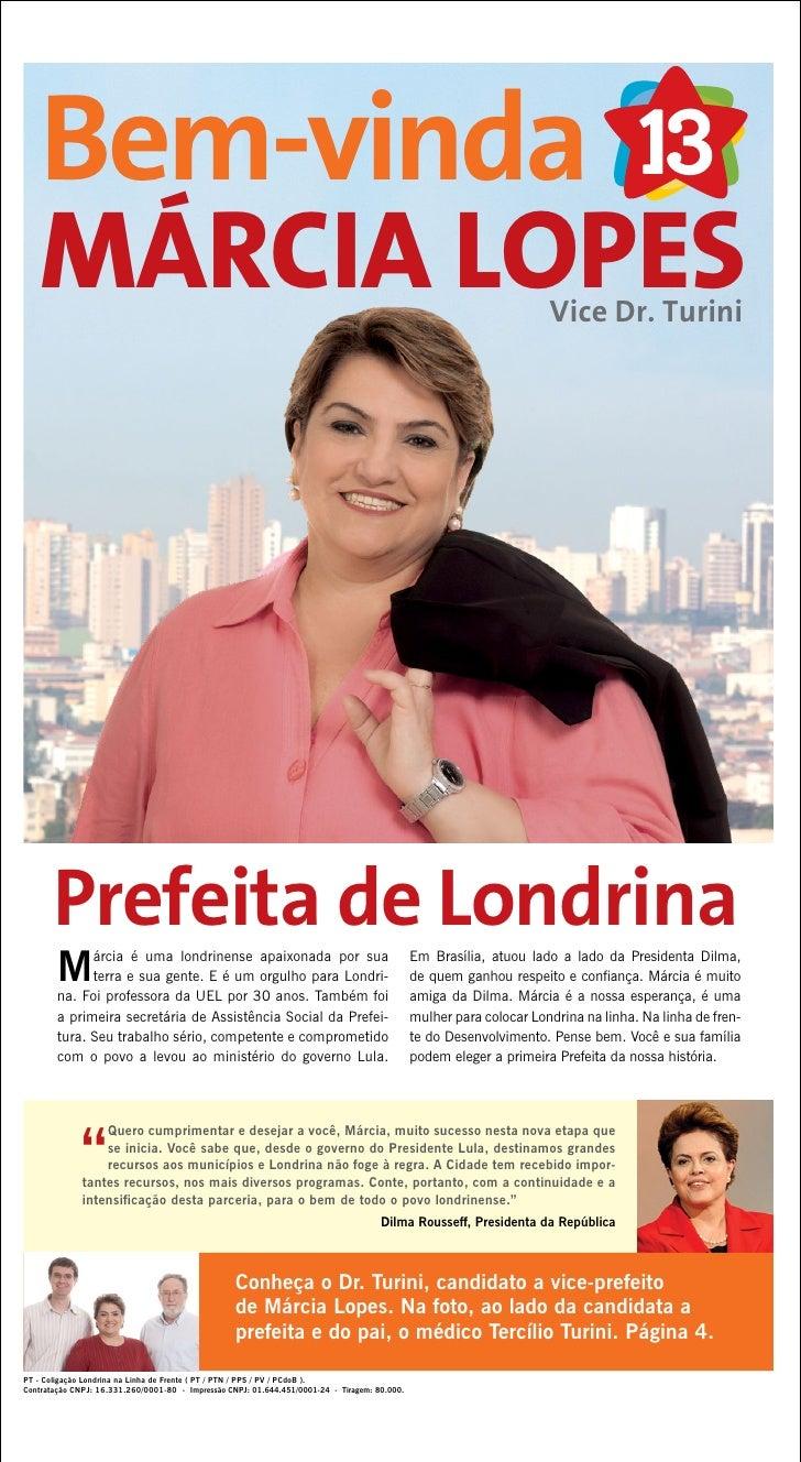 Bem-vinda    MÁRCIA LOPES                                                                                                 ...
