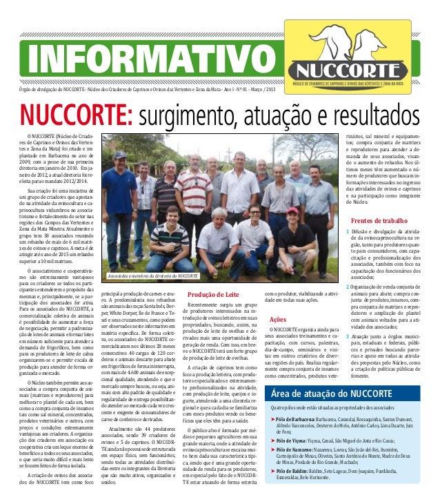 INFORMATIVOÓrgão de divulgação do NUCCORTE - Núcleo dos Criadores de Caprinos e Ovinos das Vertentes e Zona da Mata - Ano ...