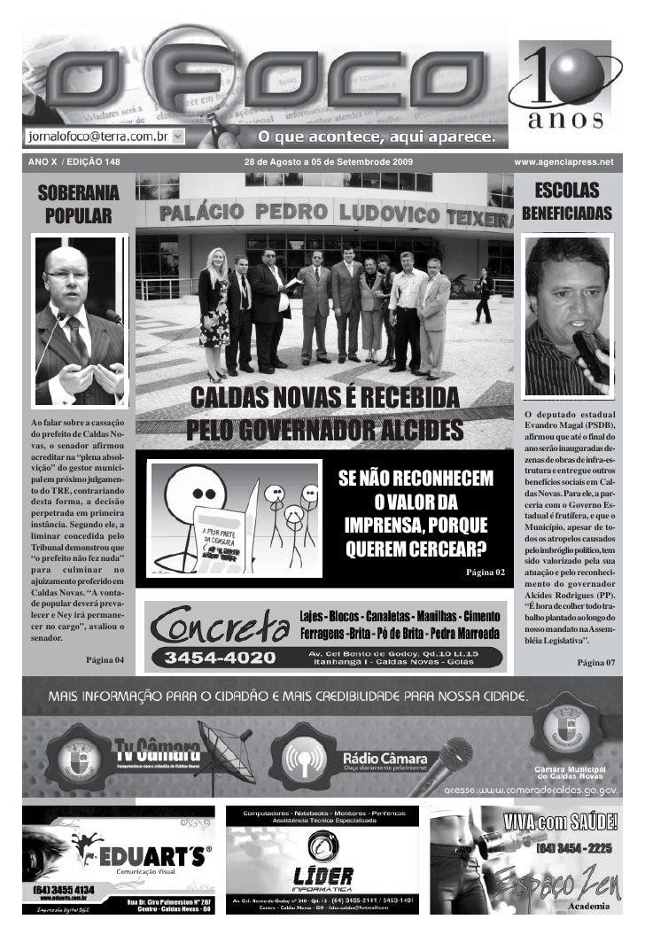 ANO X / EDIÇÃO 148               28 de Agosto a 05 de Setembrode 2009               www.agenciapress.net    SOBERANIA     ...