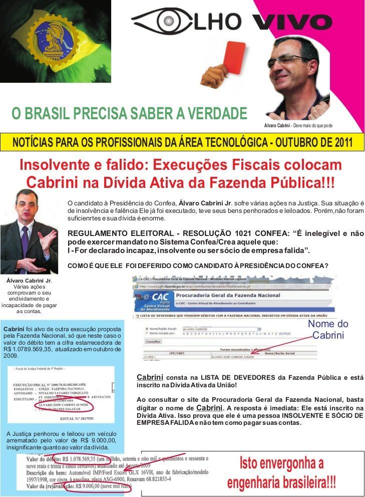 VIVO   O BRASIL PRECISA SABER A VERDADE                                                        Alvaro Cabrini - Deve mais ...