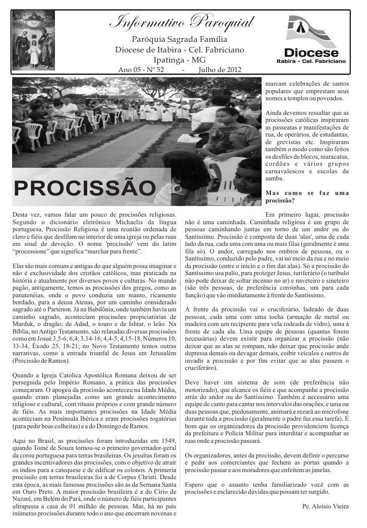 Informativo Paroquial                                             Paróquia Sagrada Família                                ...