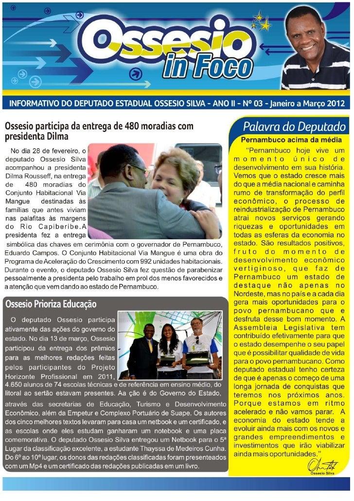 Jornal ossesio in foco 3° edição