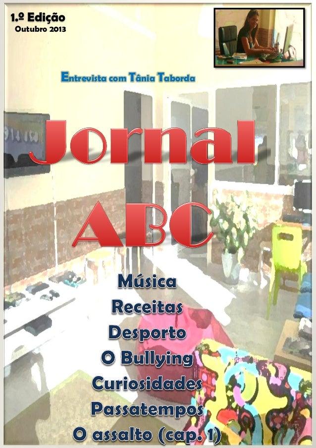 1.º Edição Outubro 2013  Entrevista com Tânia Taborda