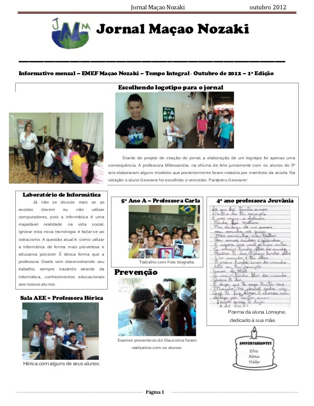 Jornal Maçao Nozaki                                        outubro 2012                                            Jornal ...