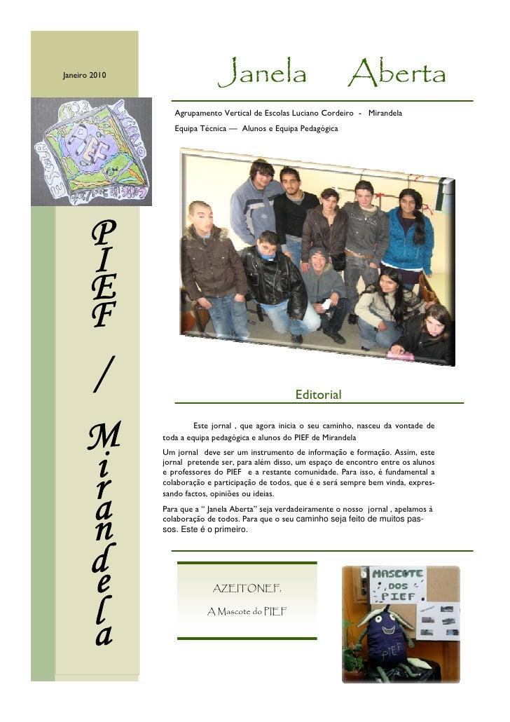 Janeiro 2010                  Janela                              Aberta                   Agrupamento Vertical de Escolas...