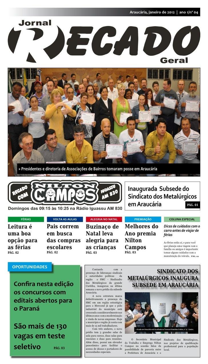 Araucária, janeiro de 2012 | ano 1/nº 04                                                                                  ...