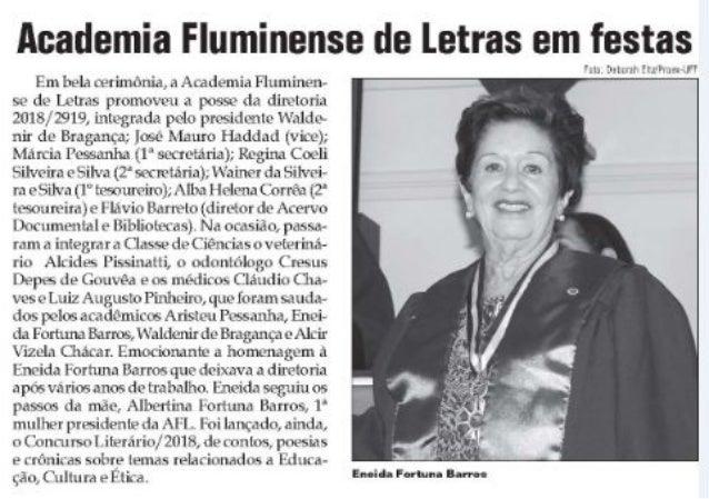 04/2018 Academia Fluminense de Letras em festas