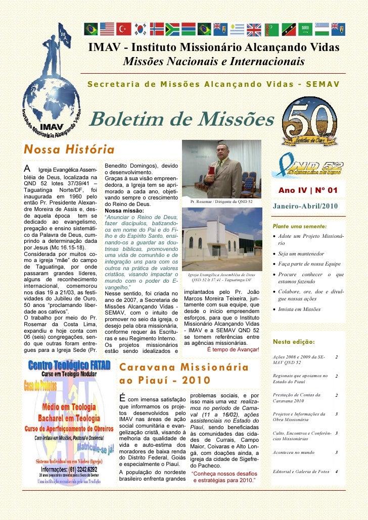 IMAV - Instituto Missionário Alcançando Vidas                                Missões Nacionais e Internacionais           ...