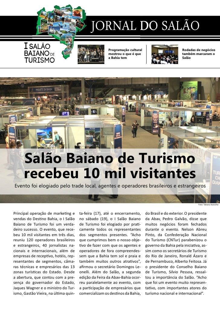 JORNAL DO SALÃO                                                       Programação cultural                         Rodadas...
