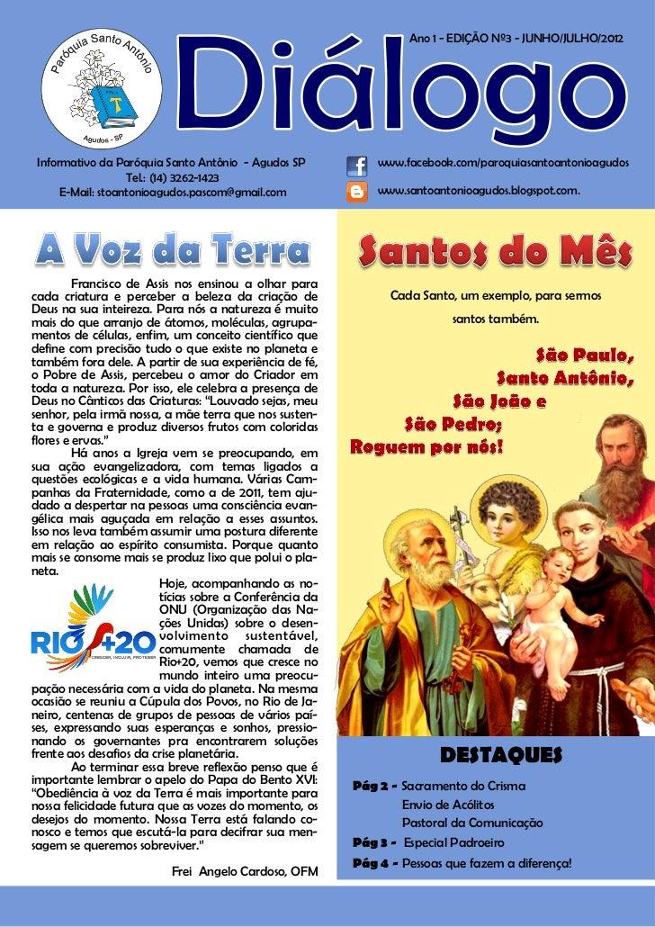 1                                                                     Ano 1 - EDIÇÃO Nº3 - JUNHO/JULHO/2012     Informativ...