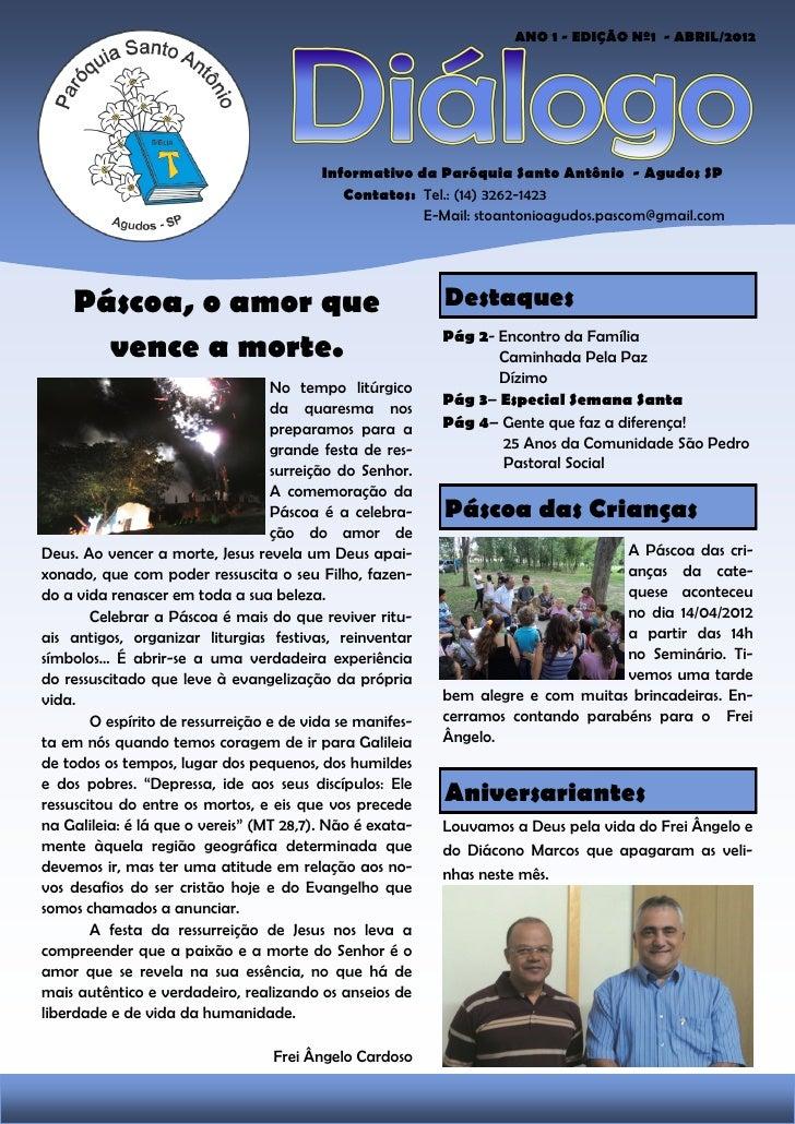 1                                                                        ANO 1 - EDIÇÃO Nº1 - ABRIL/2012                  ...