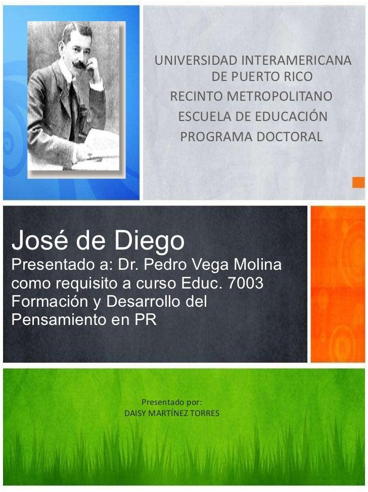 <ul><li>UNIVERSIDAD INTERAMERICANA DE PUERTO RICO </li></ul><ul><li>RECINTO METROPOLITANO  </li></ul><ul><li>ESCUELA DE ED...