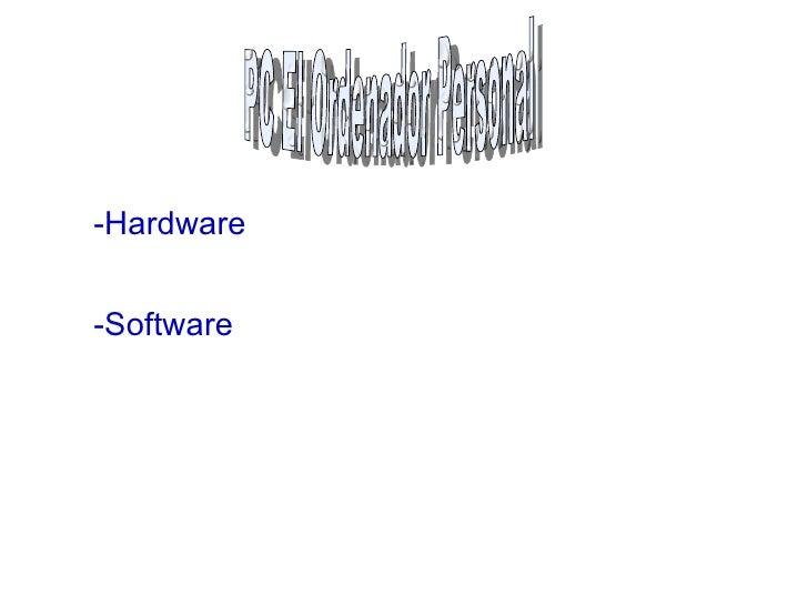 -Software -Hardware PC El Ordenador Personal
