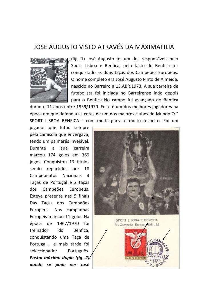 JOSE AUGUSTO VISTO ATRAVÉS DA MAXIMAFILIA<br />229933526066752095592075(fig. 1) José Augusto foi um dos responsáveis pelo ...