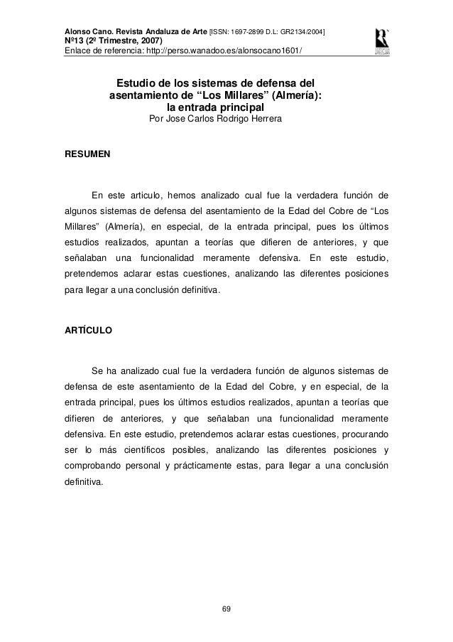 Alonso Cano. Revista Andaluza de Arte [ISSN: 1697-2899 D.L: GR2134/2004] Nº13 (2º Trimestre, 2007) Enlace de referencia: h...