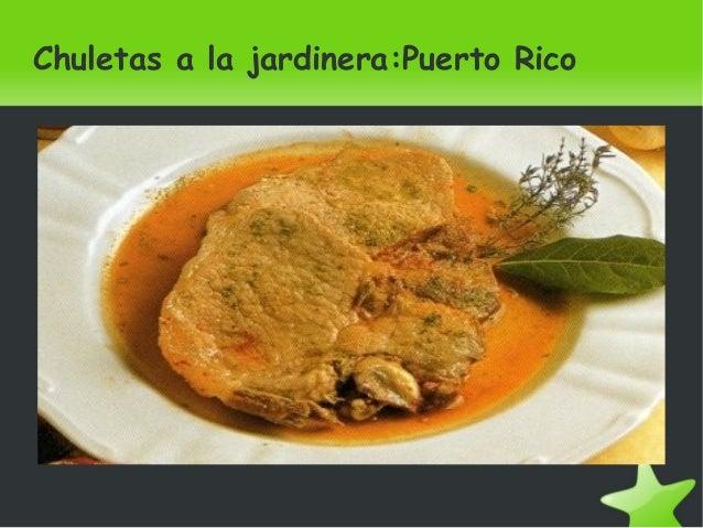 Chuletas a la jardinera:Puerto Rico