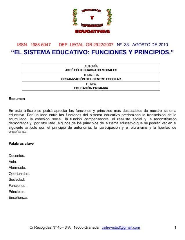 ISSN 1988-6047 DEP. LEGAL: GR 2922/2007 Nº 33– AGOSTO DE 2010 C/ Recogidas Nº 45 - 6ºA 18005 Granada csifrevistad@gmail.co...