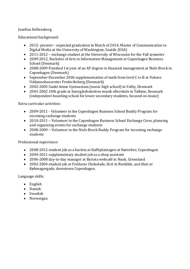 resume for barista without experience contegri com