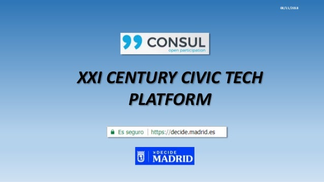 XXI CENTURY CIVIC TECH PLATFORM 08/11/2018