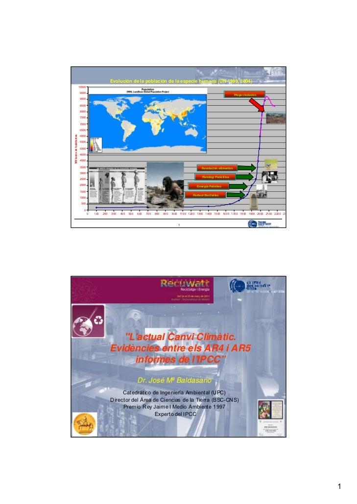 Evolución de la población de la especie humana (UN 1999, 2004)                               10 00 0                      ...