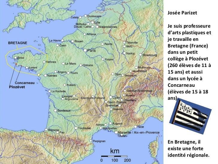 Josée ParizetJe suis professeured'arts plastiques etje travaille enBretagne (France)dans un petitcollège à Plozévet(260 él...