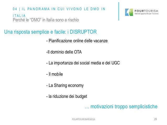 FOURTOURISM©2016 29 - Pianificazione online delle vacanze -Il dominio delle OTA - La importanza dei social media e del UGC...
