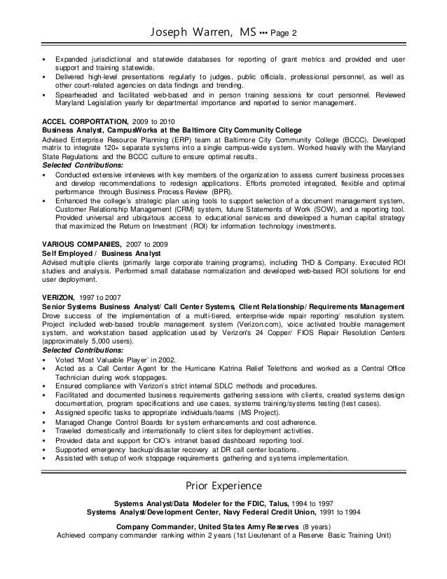 selected contributions 2 - Data Modeler Resume