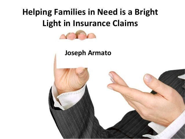 Joseph Armato Helping Families in Need is a Bright Light in Insurance Claims