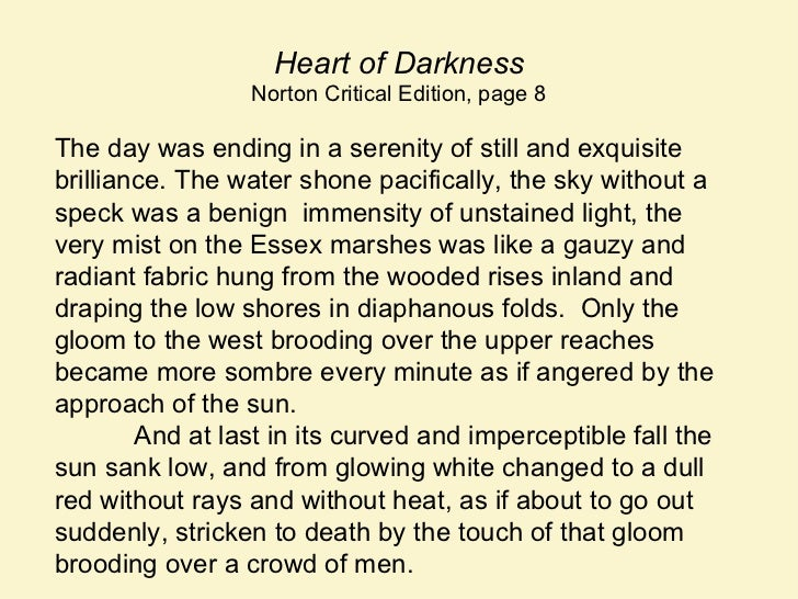 politics morality and social order in heart of darkness by joseph conrad
