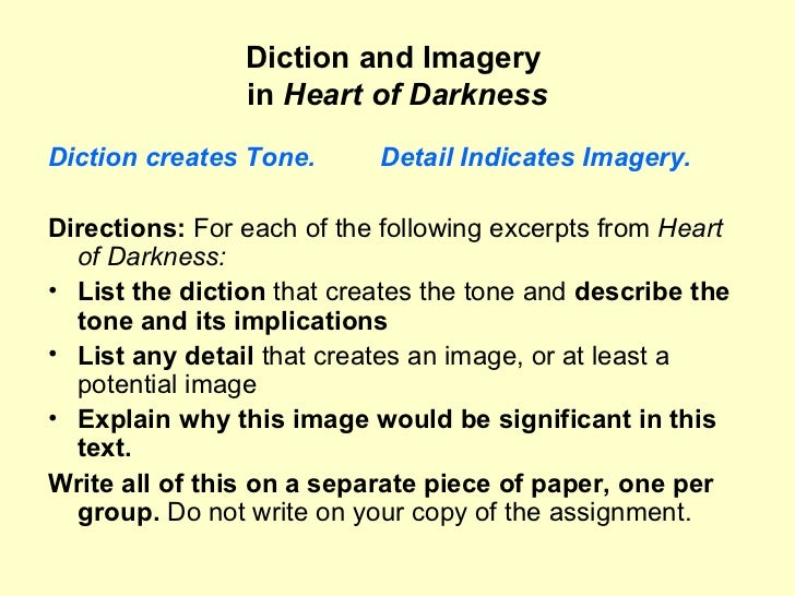 the use of symbolism in joseph conrads heart of darkness Explanation the symbols used in joseph conrad's heart of darkness.