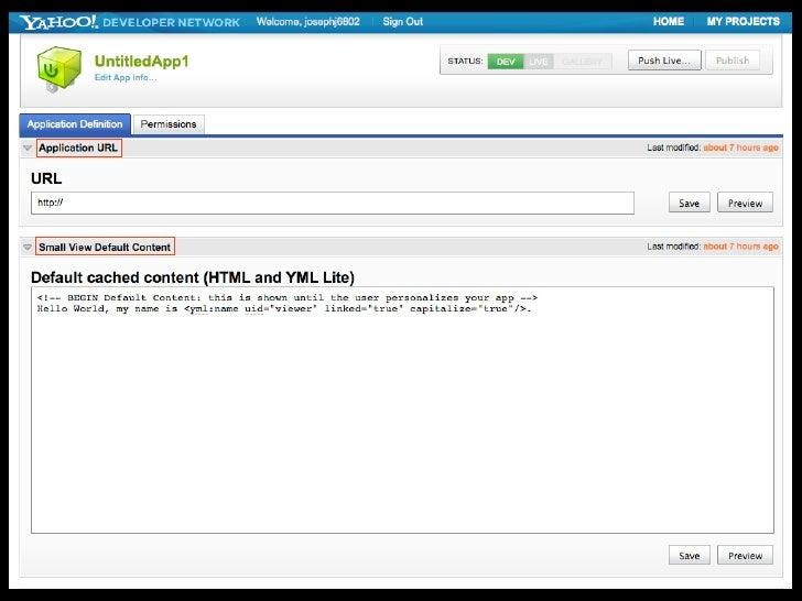 PHP SDK              Text     OAuth            YQL   Social API