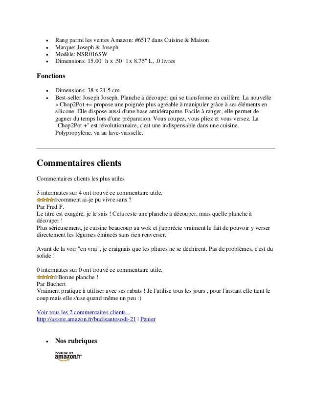 """ Rang parmi les ventes Amazon: #6517 dans Cuisine & Maison Marque: Joseph & Joseph Modèle: NSR016SW Dimensions: 15.00""""..."""