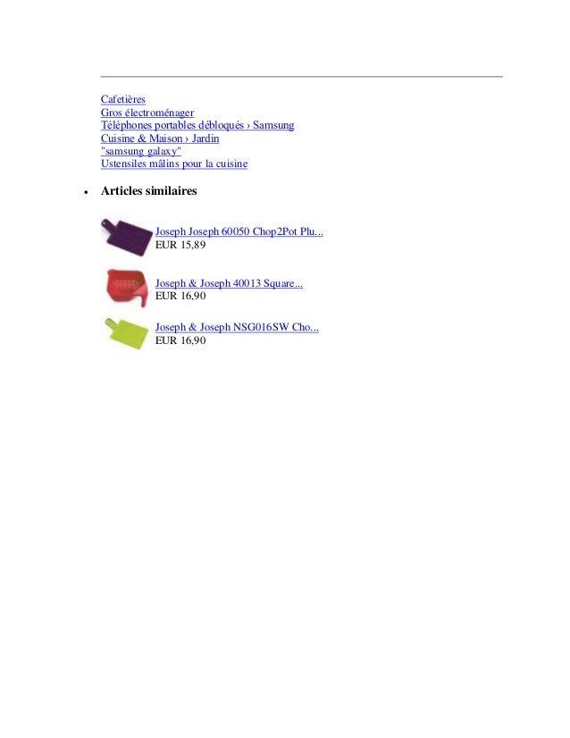 """CafetièresGros électroménagerTéléphones portables débloqués › SamsungCuisine & Maison › Jardin""""samsung galaxy""""Ustensiles m..."""