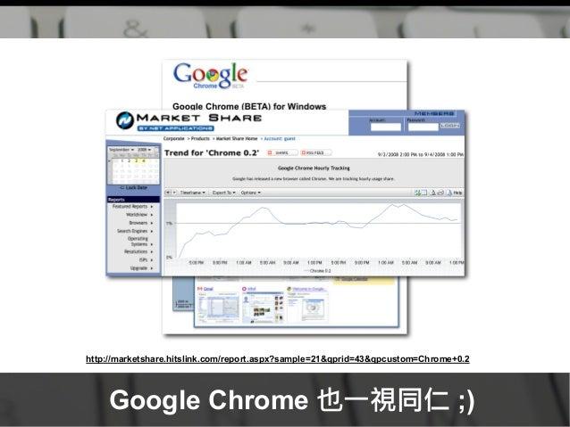 http://marketshare.hitslink.com/report.aspx?sample=21&qprid=43&qpcustom=Chrome+0.2 Google Chrome 也一視同仁 ;)