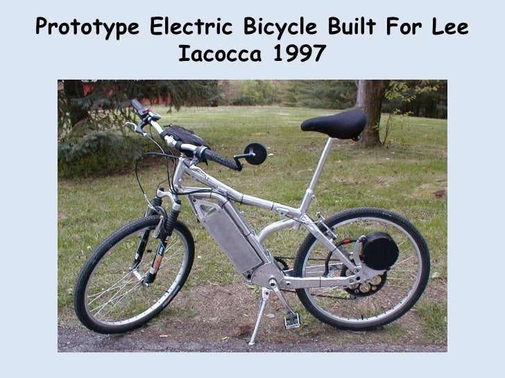 Prototype Electric Bicycle Built For Lee Iacocca 1997<br />