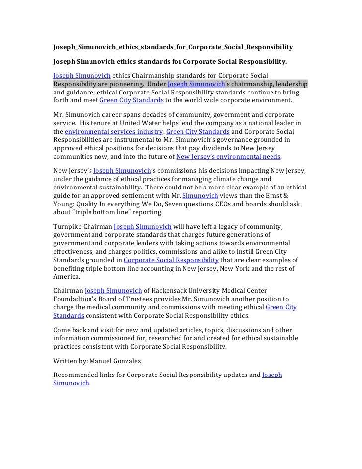 Joseph_Simunovich_ethics_standards_for_Corporate_Social_Responsibility Joseph Simunovich ethics standards for ...