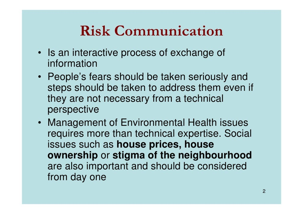 risk communication Risk communication purpose nmcphc is the recognized center of excellence for risk communication, providing worldwide risk communication support for over 20 years.