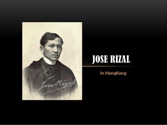 In HongKong JOSE RIZAL