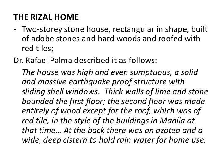 essay of jose rizal home
