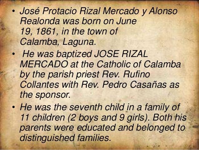 rizal autobiography Jose rizal here is a biography of jose rizal, beginning with his early life: jose rizal was born in calamba, laguna in the philippines in june of 1861 and was named jose protasio rizal mercado y alonso realonda.