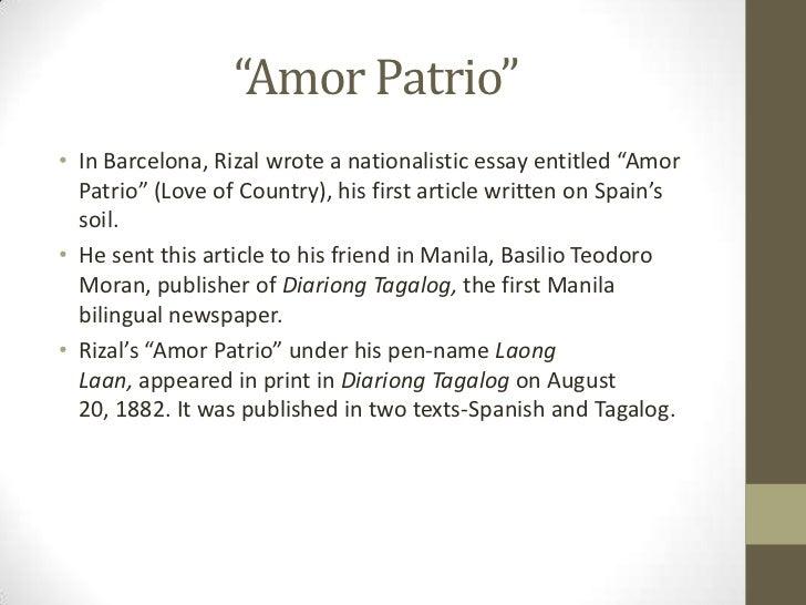 el amor patrio by jose rizal essay