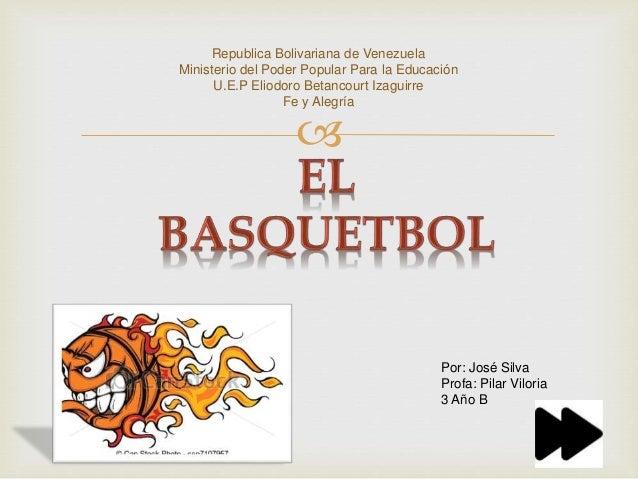  Republica Bolivariana de Venezuela Ministerio del Poder Popular Para la Educación U.E.P Eliodoro Betancourt Izaguirre Fe...